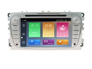 FORD Mondeo, Focus, S-Max, C-Max, Galaxy - МУЛТИМЕДИЯ / Навигация Android DVD светлосива