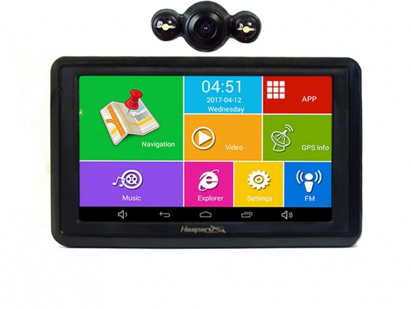 GPS Hesperus V55K Android QUAD CORE + FM + BT + WIFI +AV-IN